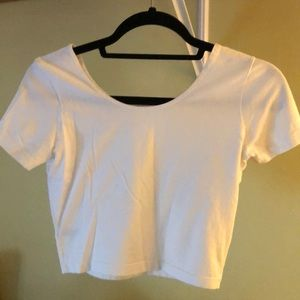 Medium white American Apparel crop top
